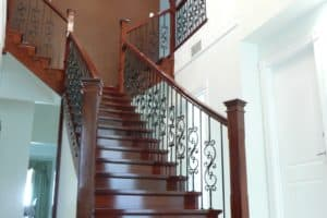 Custom double flared profile cut stair with steel balustrade - Stairs by Design (2)