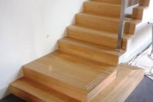 Custom made modern Australian Chestnut Stair - Stairs by Design