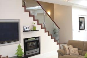 Modern profile cut stair with custom balustrade - Stairs by Design