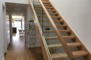 Cavity Glass Open Riser staircase Stairs by Design